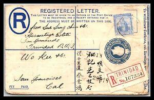 GP GOLDPATH: TRINIDAD & TOBAGO POSTAL STATIONARY 1923 _CV743_P13