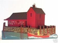 Shelia's Motif #1 Rockport Ma Massachusetts Seaside Village Wooden Shelf Sitter