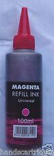 Universal Magenta 100ml IJ Brand Dye Bottle Ink