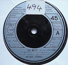 """VILLAGE PEOPLE - Go West - Excellent Condition 7"""" Single Mercury 6007 221"""
