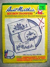 Vintage Aunt Marthas Hot Iron Transfer Pattern #3285 Morning Glory Pillowslip