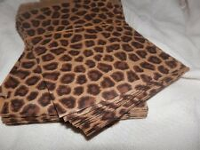 100 5x7inch Leopard Print Merchandise Bags, Party Favor Bags, Paper Gift Bags