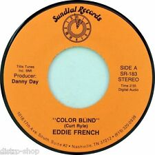 """7"""" EDDIE French Color aveugle Curt Ryle/Danny Day 45 tr/min Sundial USA Country 1988"""