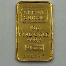 (1) CREDIT SUISSE 10 GRAM FINE GOLD BAR 999.9 24K #625303