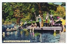 Vintage Windham, NY Postcard - Water Sports at Soper's - Unposted