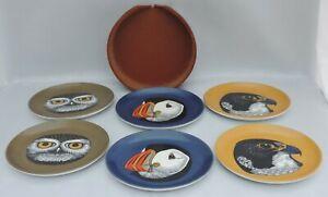 6 Praesidium melamine coasters in leather container
