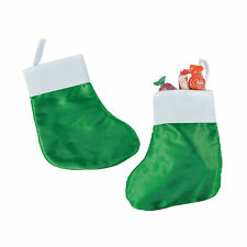 Small Green Christmas Stockings - Craft Supplies - 12 Pieces