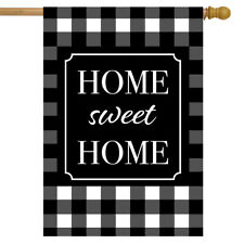 "Home Sweet Home Checkered Spring House Flag 28"" x 40"" Briarwood Lane"