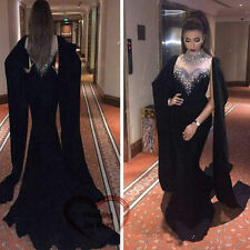 Long Formal Evening Cocktail Party Celebrity Bridesmaid Beads Prom Gown Dress