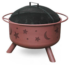 Portable Fire Pit For Camping Wood Burning Charcoal Backyard Patio Beach Moon