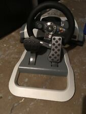 Xbox 360 Wireless Racing Wheel With Pedals No Mount Fully Tested