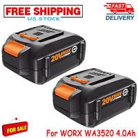 2-NEW WA3525 For WORX WA3578  20V Max Lithium 4.0AH Battery WA3520 WA3575 WG160