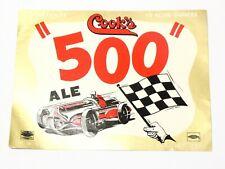 More details for vintage original cook's 500 ale f.w. cook, indiana bottle paper label #r53