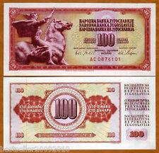 YUGOSLAVIA 100 DINARA UNC # 927