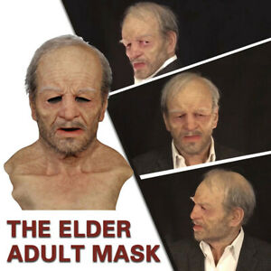Another Me-The Elder Halloween Holiday Funny Masks Supersoft Old Man Adult Mask