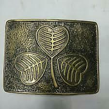 New Irish Shamrock Kilt Belt Buckle Antique Finish Highland Belts Buckles