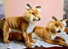 HANSA RED FOX LYING DOWN PLUSH TOY PORTRAITS OF NATURE NEW WITH TAGS