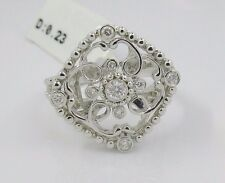 0.23 CT 18k Solid White Gold Diamond Ring
