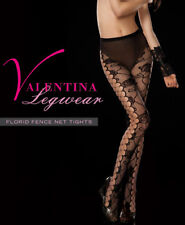 O/S PLUS Sexy Valentina Black Fishnet Sheer FLORID NET TIGHTS Pantyhose