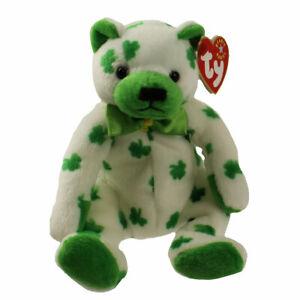 TY Beanie Baby - CLOVER the Irish Bear (7.5 inch) - MWMT's Stuffed Animal Toy
