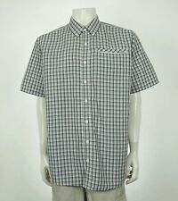 Eddie Bauer Travex Gray Plaid Tech Button Front Shirt Mens XLT TXL