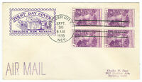 USA 774 COLOR CACHET FIRST DAY COVERS FDC VF SOUND BLOCKS 4 x2
