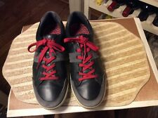 ECCO Men's Black/gray Leather lace up golf  Shoes Size EU 45- US Size- 11-11.5