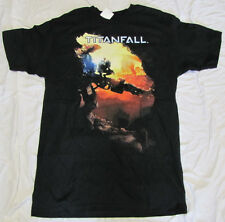XL T-SHIRT MENS TITANFALL BLACK VIDEO GAME GRAPHIC TEE TITAN FALL X-LARGE NEW!!!
