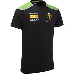 Automobili Lamborghini Squadra Corse Team T-Shirt (Black - Green)