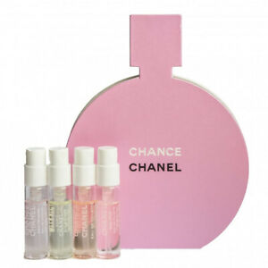 CHANEL Chance samples Eau Fraiche Tendre Vive set 4x 1.5 ml NEW VIP GIFT
