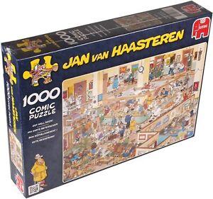 """Jan Van Haasteren Comic Puzzles """"GET WELL SOON"""" Hospital 1000 Piece Puzzle"""