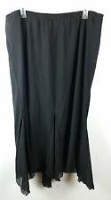 Cato Elastic Waist Skirt Lined Handkerchief Hem Very Feminine