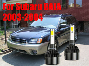 LED For Subaru BAJA 2003-2004 Headlight Kit H1 6000K White CREE Bulbs Low Beam
