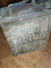 VINTAGE PETROL CAN - FLIGHT MOTOR SPIRIT  PETROL CAN