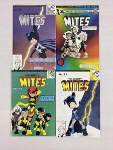Mighty Mites 🔥 #'s 1,2,3 COMPLETE RUN + Variant! Eternity Comics 1986!