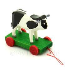 Maison de poupées miniature Grand Allemand à tirer Noir vache