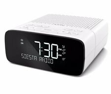 Pure Siesta S2 Dab/fm Digital Alarm Clock Radio With Instant Time Set - White