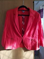 M&S Women Linen red  Jacket /Blazer Size 16