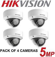 4 X {HIKVISION 5MP CCTV CAMERA ANTI VANDAL DOME 2.8MM 20M EXIR NIGHT VISION}