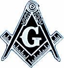 Masonic Black LOGO EMBROIDERED PATCH iron-on FREEMASON SQUARE COMPASS MASON