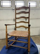 Antique shaker rocking chair woven Seat Beautiful coloration Ladder Back Tenn