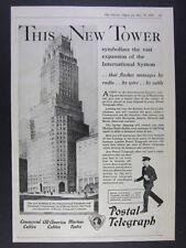 1930 ITT International Telephone & Telegraph NYC Building vintage print Ad