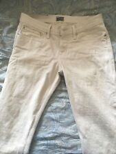 Naked and Famous Weird Guy Unbleached Selvedge Off-White Denim Jeans 32