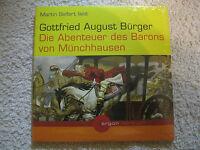 2 CD Hörbuch Die Abenteuer des Barons von Münchhausen. Argon Martin Seifert Neu
