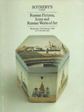 Sotheby's LP RUSSIAN PICTURES, icons and Russian Works of Art 15th February 1984