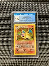 Pokemon CGC 5.5 Charizard 4/102 Holo Base Set 1999 Excellent+