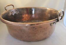 A Very Large 19th Century Copper Pan - Antique - Kitchenalia / Planter