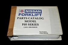 Parts Catalog Manual For Nissan Forklift F05 Series (Jan 1998 Issue)Cf090-Ubook