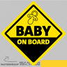 Baby On Board Vinyl Sticker Decal Window Car Van Bike 2638