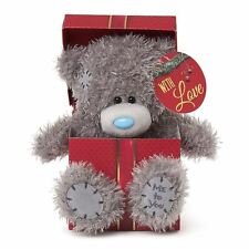"Me to You 7"" Christmas Bear In A Box Gift & With Love Tag - Tatty Teddy Bear"